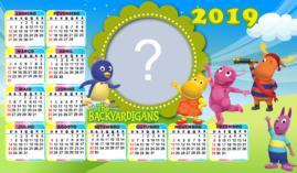Moldura Calendario The Backyardigans 2019. Faça o seu com foto!