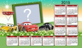 Calendário 2019 Filme Cars. Faça o seu com uma Foto!