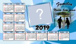 Calendario 2019 Família Bem precioso. Faça o seu com uma foto!