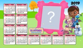 Moldura calendario 2019 da Doutora Brinquedos. Adicione uma Foto!
