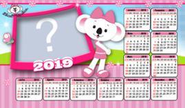 Moldura Calendario 2019 Lilica Ripilica. Faça com uma Foto!