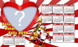 Calendário 2019 de Natal. Faça o seu com uma foto!