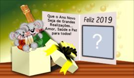 Cartão Gratis de Feliz Ano Novo com Foto. Faça o seu!
