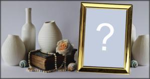 Coloque sua Foto neste lindo porta retrato entre os vasos!