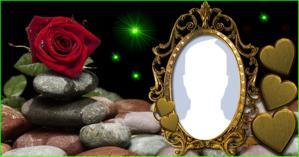 Como ficaria sua Foto de perfil nesta Linda Moldura de rosa Vermelha?