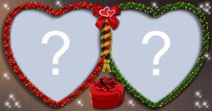 ¡Haga un Lindo arreglo de Navidad con dos fotos!