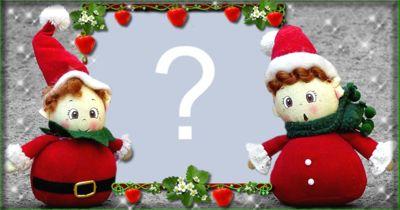 Moldura com bonequinhos de Natal. Faça com sua Foto!