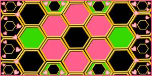 Mosaico tipo Colméia com 16 Amigos. Faça o Seu!