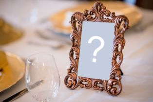 Add your photo in a beautiful brass frame on the table