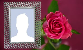Beautiful photo frame with a beautiful rose! Add your photo!