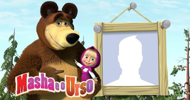 Moldura Da Masha E O Urso