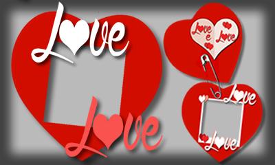 Crie uma linda Montagem de corações com sua foto!