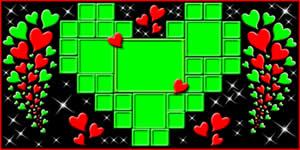 Mosaico de Coração Verde com 31 Amigos!