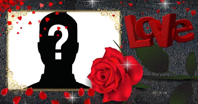 Adaugă fotografia ta preferată în această frumoasă ramă de trandafir roșu!