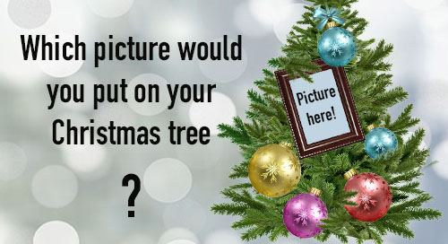 Create a beautiful Montage with your photo on the Christmas tree!