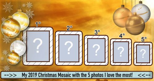 Create your 2019 Christmas Mosaic with the photos you love the most!