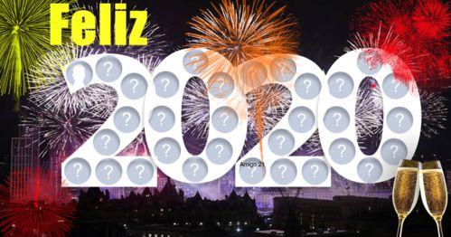 Mosaico de ano novo com 31 amigos. Veja o seu!
