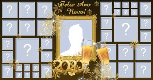Mosaico Feliz ano novo com 38 amigos, veja o seu!