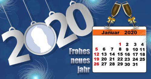 Januar 2020 Kalender mit Ihrem Foto. Mach deins!