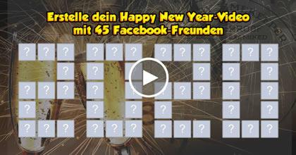 Erstelle mit 45 Freunden ein Frohes Neues Jahr-Video