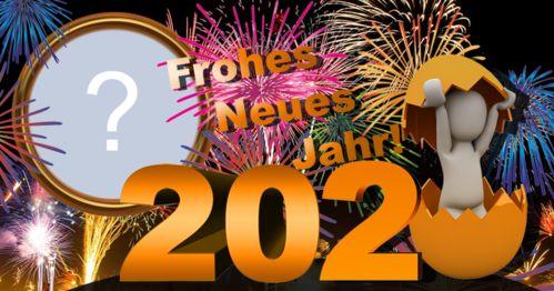 WÜNSCHEN SIE ALLEN EIN GLÜCKLICHES NEUES JAHR 2020. ADDIEREN SIE IHR FOTO!