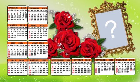 2020 calendar with Roses. Make yours!