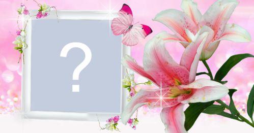 Adăugați fotografia în acest cadru frumos de orhidee!