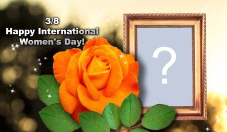 Beautiful Women's Day frame. Add a photo!