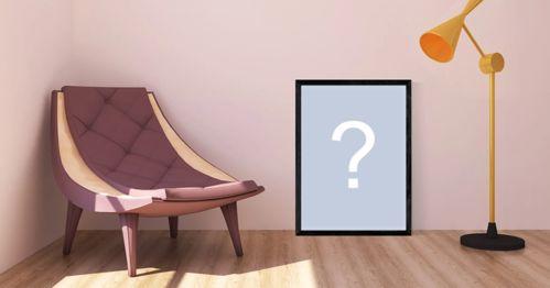 Montagem de foto com uma linda poltrona e foto no chão. Adicione uma foto!