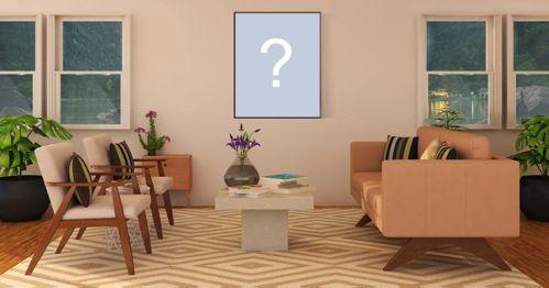 Montagem de foto com quadro na parede, cadeiras e sofá. Adicione sua foto!
