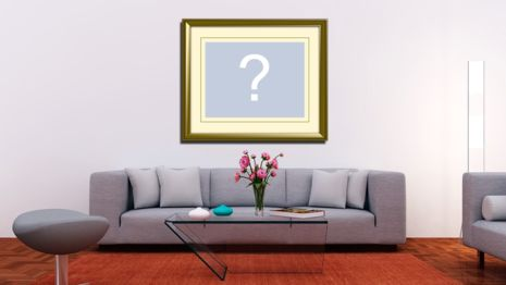 Put your photo on the wall of a beautiful living room!