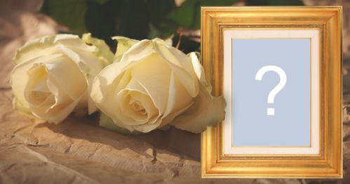 Add your photo to this beautiful frame with yellow roses and golden border!