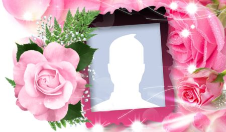 Beautiful rose frame! Create yours!