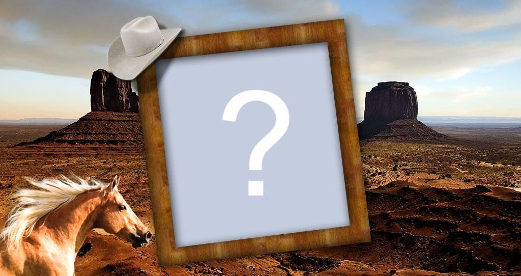 Desert landscape frame.