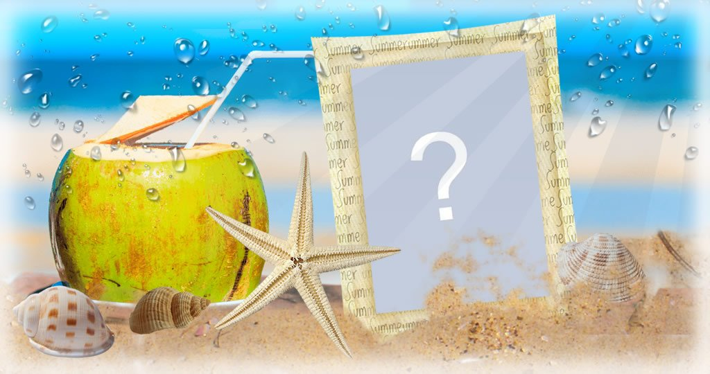 Summer and beach frame.