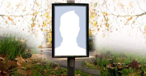 Faça uma linda montagem com a sua foto no outdoor!