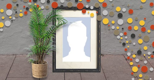 Beautiful large picture frame on the wall. Put your photo!