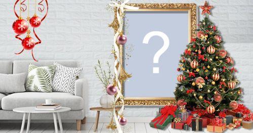 Pune-ți fotografia pe acest frumos pom de Crăciun!
