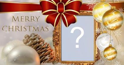 Cadru frumos cu aranjament de Crăciun. Adaugă fotografia ta!