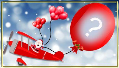 Faça uma montagem com sua foto no balão do Papai Noel!
