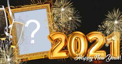 Happy new year frame. Make yours!