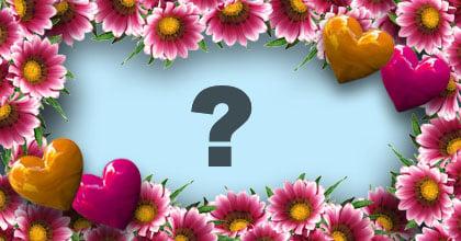Bella cornice con fiorellini. Aggiungi la tua foto!