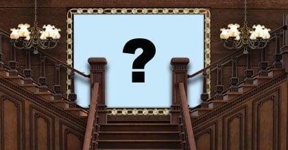 Linda moldura com escadaria de madeira. Adicione sua foto no quadro!