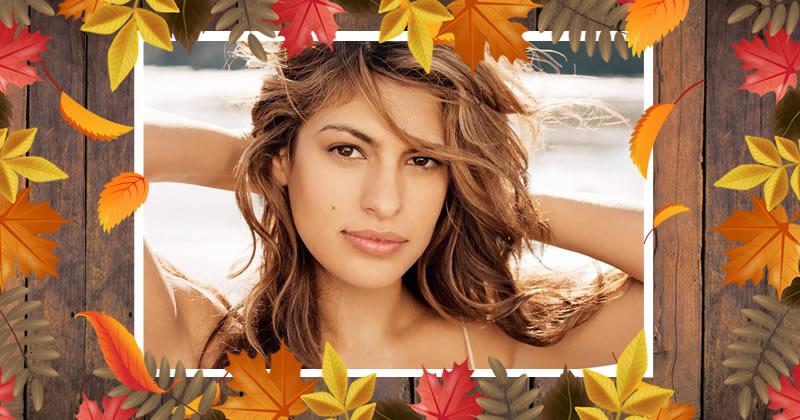 Moldura folhas no outono!