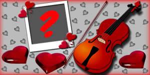 Como Ficaria sua Foto nesta Linda Moldura de Violino?