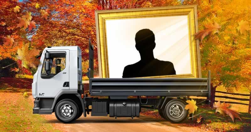 Coloque sua foto na carroceria de um caminhão!
