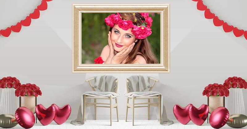 Moldura em uma sala de estar romântica!