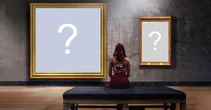 Como ficaria sua foto exposta em um museu?