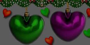 Mosaico de Feliz Natal com Corações. Faça o Seu!