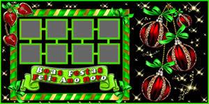 Mosaico de Boas Festas e Feliz Ano Novo com 7 Amigos. Faça o Seu!